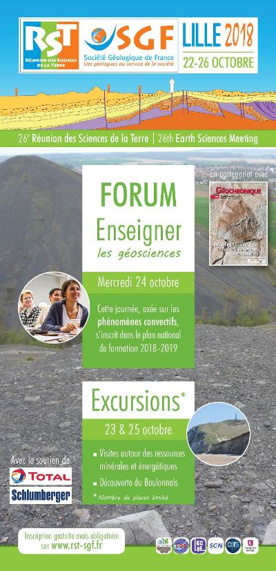 """Forum """"Enseigner les Géosciences"""", Lille, Octobre 2018"""