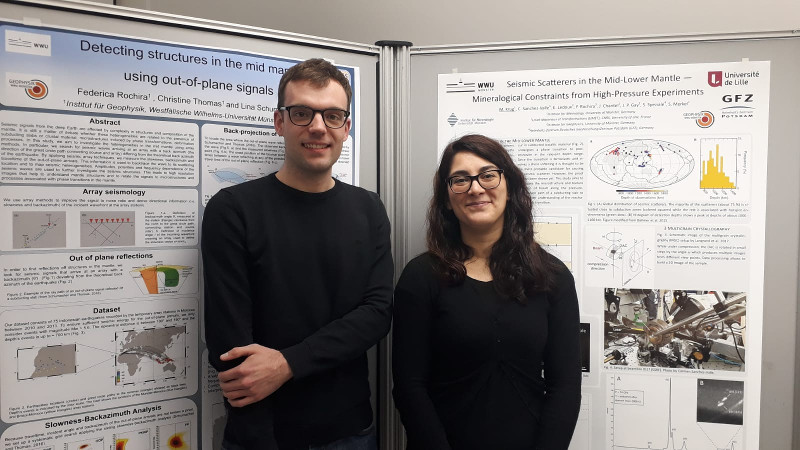 Federica Rochira and Matthias Krug at the Deep Earth Mini Symposium in Münster in December 2018