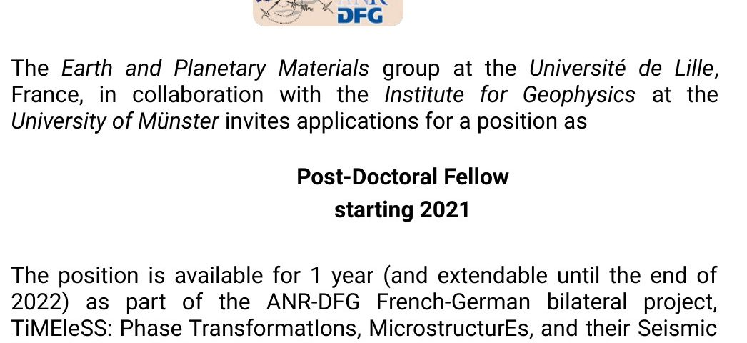 Post-doctoral position at the Université de Lille, starting in 2021