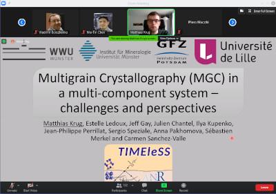 Matthias Krug presenting his work at the 2021 IUCr High-Pressure Workshop