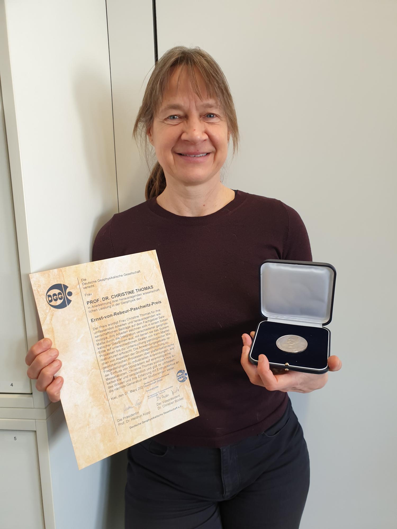 Ernst-von-Rebeur-Paschwitz-Preis for Tine Thomas