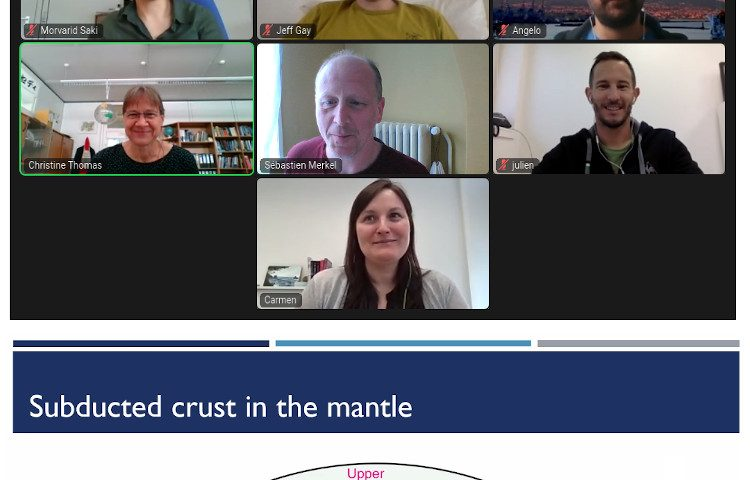 Virtual meeting on crust subduction